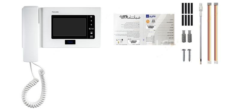 محتویات داخل آیفون تصویری تابا 4.3 اینچ با حافظه TVD-1035